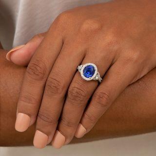 Gem 4.57 Carat Sapphire and Diamond Ring - AGL