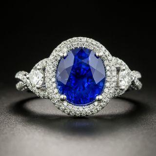 Gem 4.57 Carat Sapphire and Diamond Ring - AGL - 2