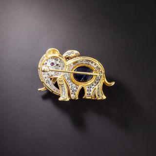Gem-Set Elephant Pin