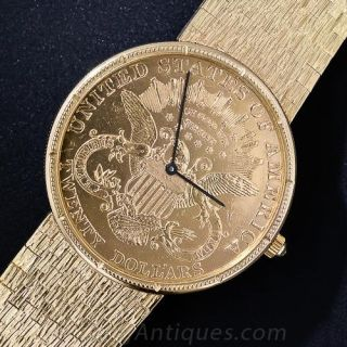 Gent's $20 Gold Piece Wristwatch