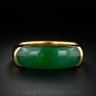 Gent's Natural Burmese Jade Ring