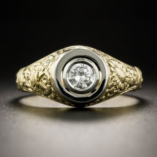 Gent's Victorian Revival .35 Carat Diamond Ring