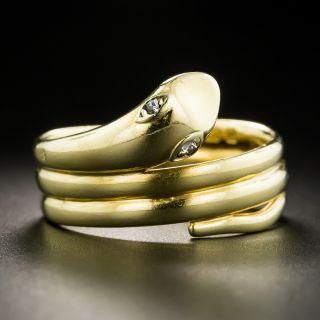Gent's Vintage 18K Snake Ring - 2
