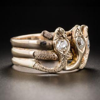 Gent's Vintage Triple Snake Ring