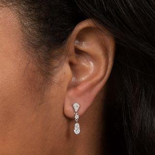 Geometric Diamond Dangle Earrings