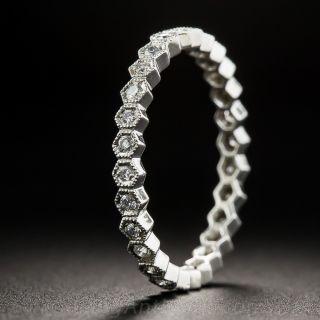 Geometric Diamond Eternity Band - 2