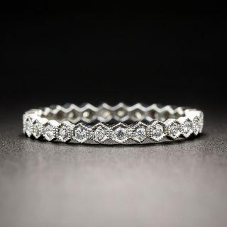 Geometric Diamond Eternity Band, Size 7
