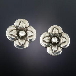 Georg Jensen Floral Earrings