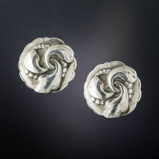 Georg Jensen Sterling Silver Earrings  - 1