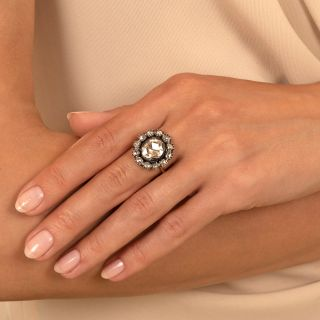 Georgian .80 Carat Antique Rose-Cut Diamond Ring