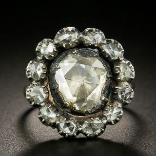 Georgian .80 Carat Antique Rose-Cut Diamond Ring - 2