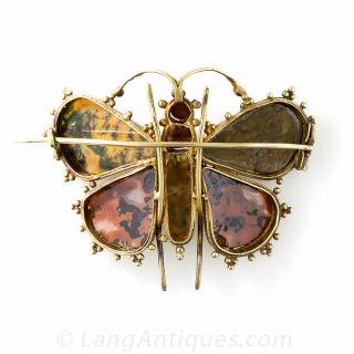 Georgian Agate Butterfly