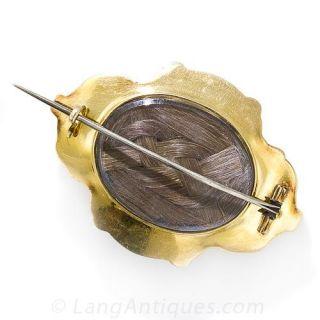 Georgian Amethyst Locket Brooch