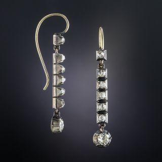 Georgian Long Diamond Drop Earrings