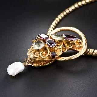 Georgian Multi-Colored Snake Necklace - 3