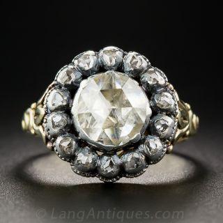 Georgian Style Diamond Cluster Ring - 1