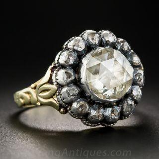 Georgian Style Diamond Cluster Ring