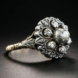 Georgian Style Rose-Cut Diamond Cluster Ring