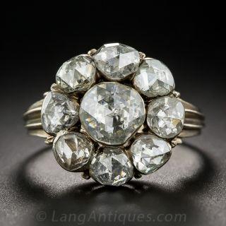 Georgian Style Rose Cut Diamond Cluster Ring