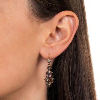 Georgian Topaz Dangle Earrings