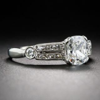 GIA F-VS2 1.11 ct. Cushion-Cut Diamond and Platinum Engagement Ring