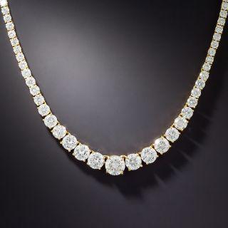 Graduated Diamond Rivière Necklace - 1