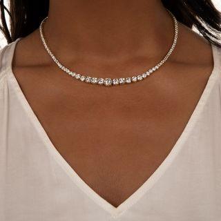 Graduated Diamond Rivière Necklace