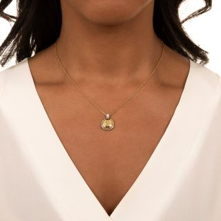 Graff 1.02 Carat Fancy Light Yellow Radiant Diamond Pendant Necklace - GIA