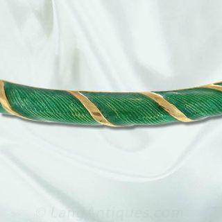 Green Enamel Bangle