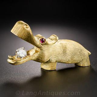 Happy Hippo Pin