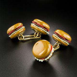 Hardstone Hamburger Cufflinks - 2