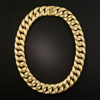 Heavy Curb Link Textured Chain - 2