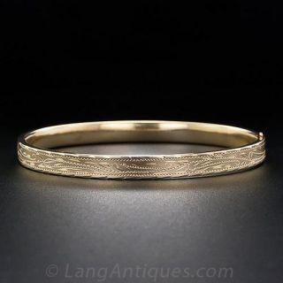 Hollow Engraved Bangle Bracelet