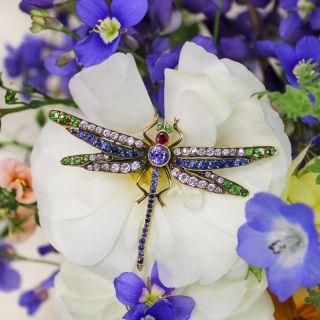 Edwardian Dragonfly Brooch