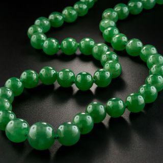 'Almost' Imperial Natural Burmese Jade Strand - 2