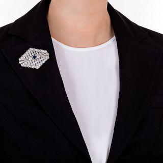Art Deco Sapphire and Diamond Brooch