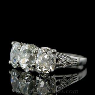 Impressive Three Cushion Cut Diamond Estate Ring