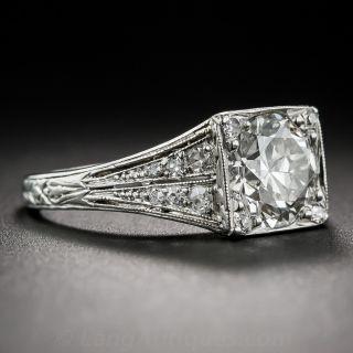 J.E. Caldwell 1.75 Carat  Platinum Diamond Art Deco Engagement Ring