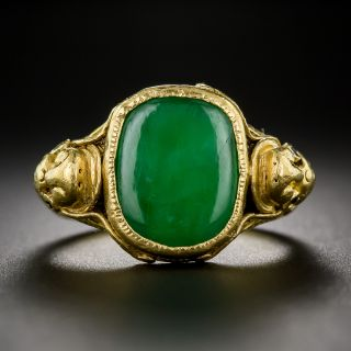 Jade and 22K Gold Ring