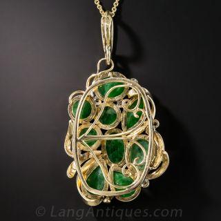 Jade Cluster Pendant