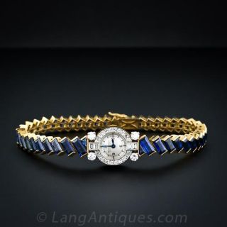 Jaeger-LeCoultre Sapphire, and Diamond Lady's Wristwatch