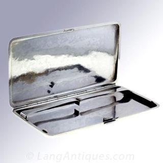 Japanese Dragon Motif Silver Cigarette Case