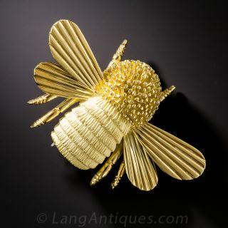Jumbo Bumble Bee Brooch by Turi