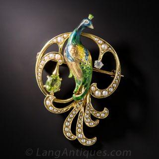 Krementz Peacock Pin