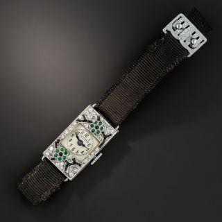 Ladies Art Deco Diamond Watch, by Untermeyer-Robbins and Optima
