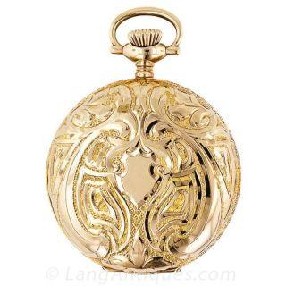 Ladies' Art Nouveau Hunter Case  Elgin Pocket Watch