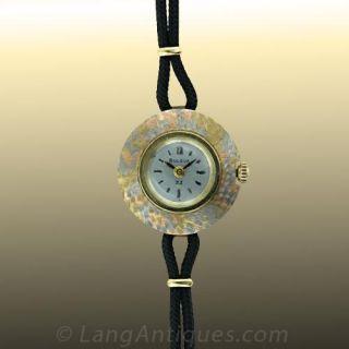 Ladies Bulova Tricolor Gold Watch Main View