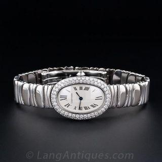 Ladies Cartier Baignoire  Watch in 18K White Gold