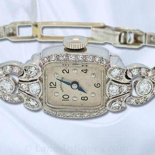 Ladies Diamond Set Hamilton Watch