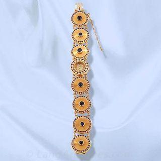 Ladies Lucien Pacard Sapphire and Pearl Bracelet Watch